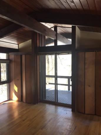 Master bedroom sliding door & windows
